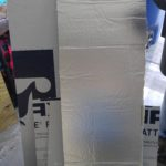 "Sheets of Foam Insulation - 1/2"" Thick, White w/Thermal Reflective Backing"