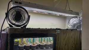 Fan on Top Vent Heat From Lighting
